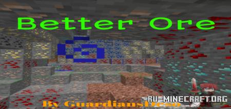 Скачать Better Ore 2.0 для Minecraft PE 1.16