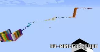 Скачать Colerfull parkour by DRAGONHUNTER345 для Minecraft