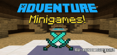 Скачать Adventure Minigames by ELRandomMan для Minecraft PE