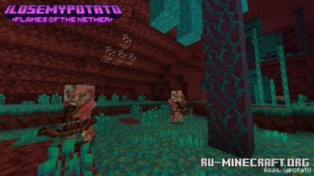 Скачать Dungeons Replicas : Flames of the Nether для Minecraft PE 1.16