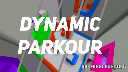 Скачать Dynamic Parkour by PurpleStriped для Minecraft