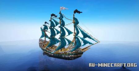 Скачать Pirate Ship by Authentic Gamer для Minecraft