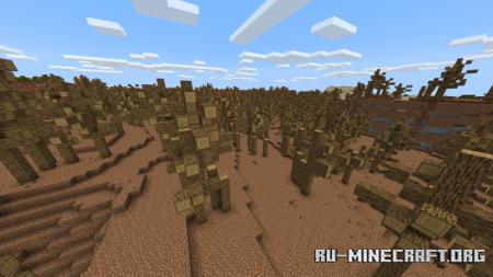 Скачать Wasteland Biome для Minecraft PE 1.17