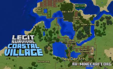 Скачать Legit Survival: Coastal Village для Minecraft
