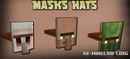 Скачать Masks Hats для Minecraft 1.16.5
