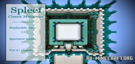 Скачать Spleef by TheWarHawk2005 для Minecraft PE