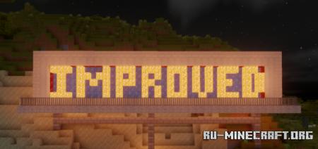 Скачать Improved Default Textures для Minecraft PE 1.17