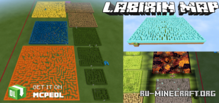 Скачать Labirin Map (Maze Map) v1.7 by AdnilBae для Minecraft PE
