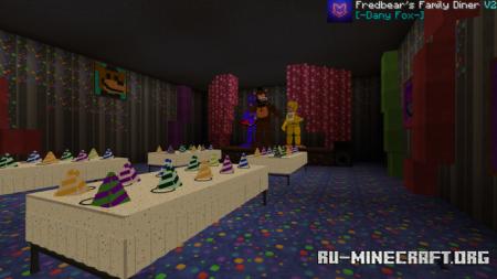 Скачать Fredbear's Family Diner 1983 Add-on для Minecraft PE 1.17