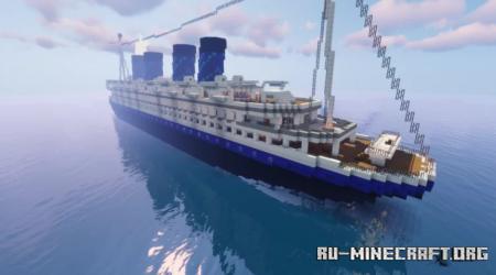 Скачать SS Spruce - Large Ocean Liner для Minecraft