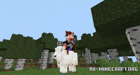 Скачать Tameable Goats для Minecraft PE 1.17