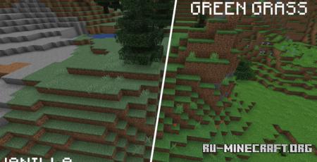 Скачать Green Grass Pack для Minecraft 1.17