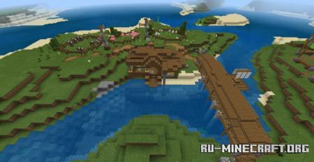 Скачать Beautiful Far Villa (Map) для Minecraft PE