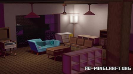 Скачать Umak : Retro Furniture для Minecraft PE 1.17
