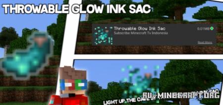 Скачать Throwable Glow Ink Sac для Minecraft PE 1.17