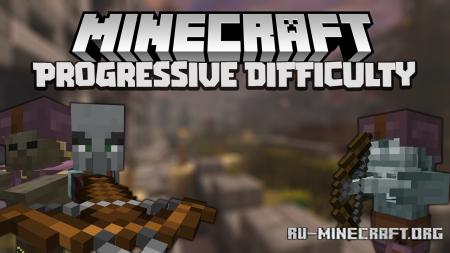 Скачать Majruszs Progressive Difficulty для Minecraft 1.17.1