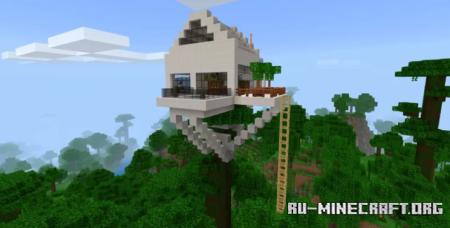 Скачать MODERN HOUSES - House on Jungle для Minecraft