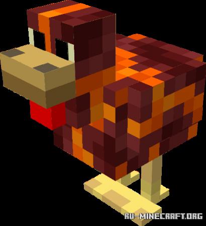 Скачать Evolved Chickens v.1 для Minecraft PE 1.17