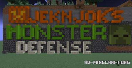 Скачать JekNJok's Monster Defense для Minecraft