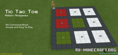 Скачать Tic Tac Toe Minigames для Minecraft PE 1.17