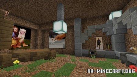 Скачать Micro Dirt House для Minecraft PE