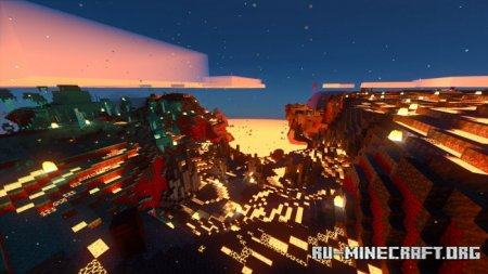 Скачать Nether in the Overworld для Minecraft PE 1.17