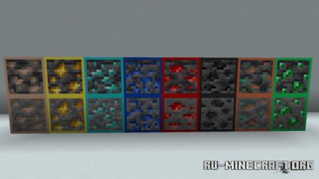 Скачать Ores Border для Minecraft PE 1.17