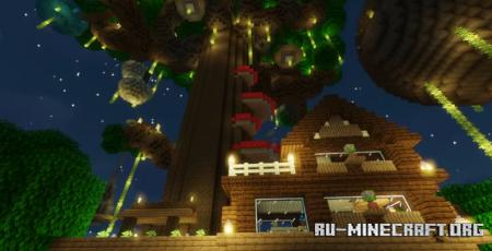 Скачать Treetop Town Hunt для Minecraft
