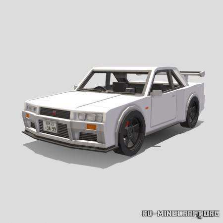 Скачать Nissan Skyline R34 GTR для Minecraft PE 1.17
