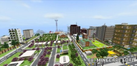 Скачать Liberia City v5 для Minecraft PE