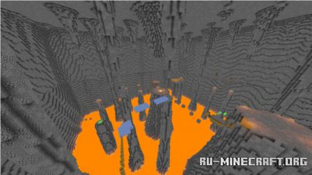 Скачать Caverns Parkour by Bastraction для Minecraft PE