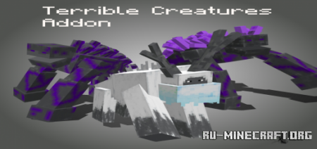 Скачать Terrible Creatures для Minecraft PE 1.17