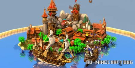 Скачать Survival Spawn Map - Treasure Island для Minecraft