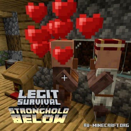 Скачать Legit Survival: Stronghold Below для Minecraft PE