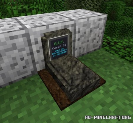 Скачать Corail Tombstone для Minecraft 1.17.1