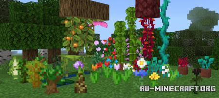 Скачать Waving Leaves and Water v 5.1 для Minecraft PE 1.17
