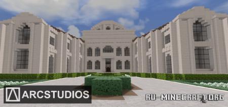 Скачать Modern Mansion 6 - Sandstone House для Minecraft PE