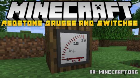 Скачать Redstone Gauges and Switches для Minecraft 1.16.5