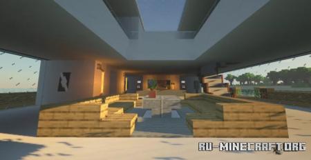 Скачать Modern Mansion 4 - Modern Beach Mansion для Minecraft