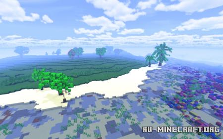 Скачать Tropical Island Survival Map (2000 × 2000) для Minecraft PE