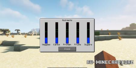 Скачать Nutritional Balance для Minecraft 1.17.1