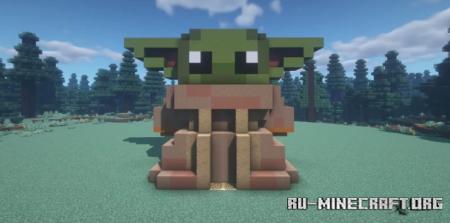 Скачать Star Wars Baby Yoda House для Minecraft