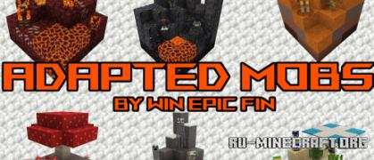 Скачать Adapted Mobs для Minecraft 1.16