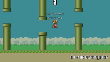 Скачать Flappy Bird by TheBlueman003 для Minecraft