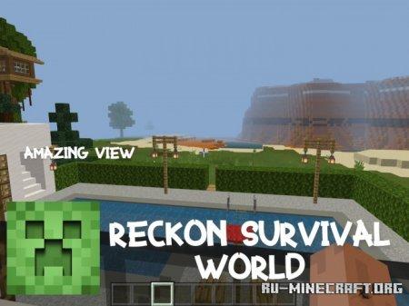 Скачать Reckon Survival World для Minecraft PE