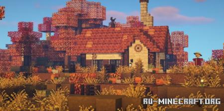 Скачать Cozy Pumpkin Cottage для Minecraft