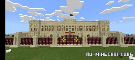 Скачать Buckingham Palace Build для Minecraft PE