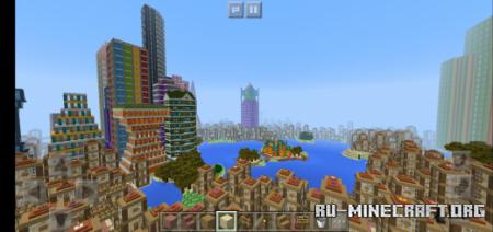 Скачать ChiYue City (Red Moon City) для Minecraft PE