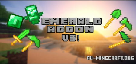 Скачать Emerald Addon V3 для Minecraft PE 1.17